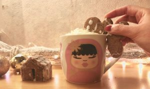 Festive Gingerbread Cookie Mug Toppers